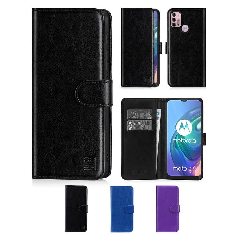 Motorola Moto G10, Moto G20 & Moto G30 'Book Series' PU Leather Wallet Case Cover
