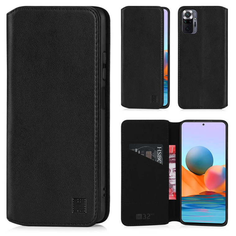Xiaomi Redmi Note 10 Pro 'Classic Series 2.0' Real Leather Book Wallet Case