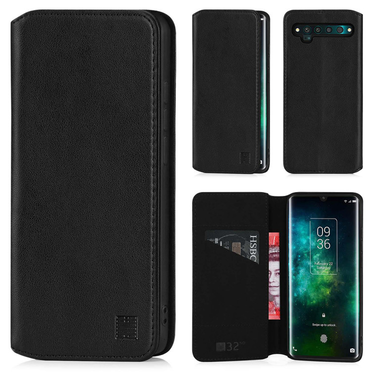 TCL 10 Pro 'Classic Series 2.0' Real Leather Book Wallet Case