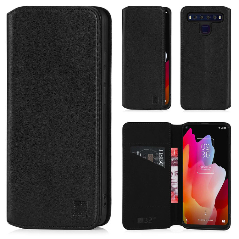 TCL 10 Lite 'Classic Series 2.0' Real Leather Book Wallet Case
