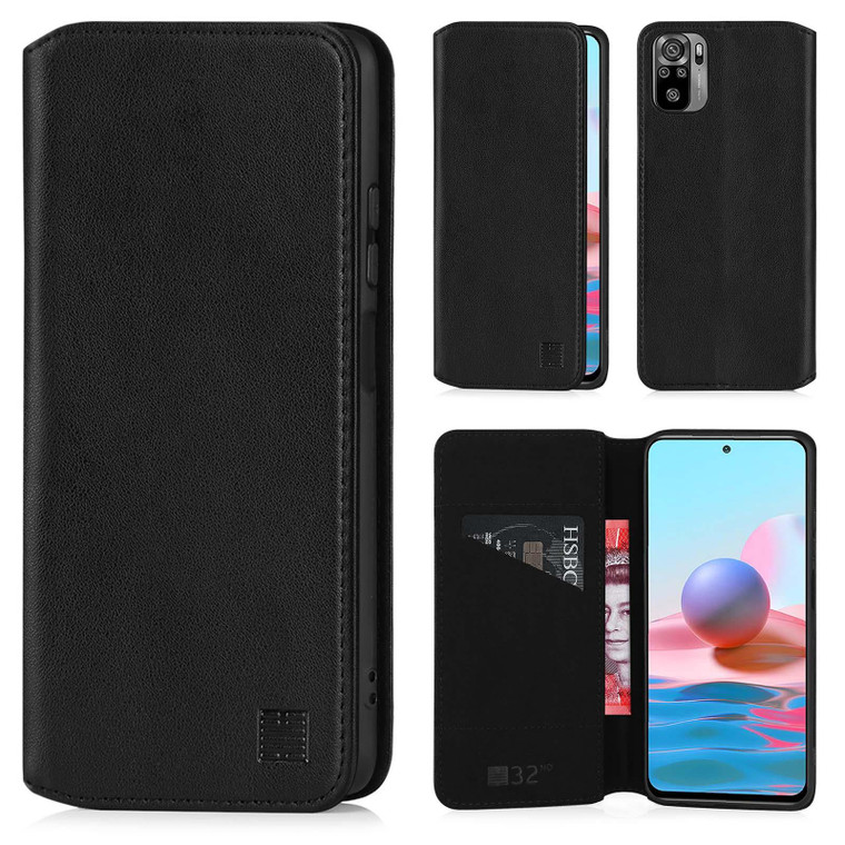 Xiaomi Redmi Note 10 'Classic Series 2.0' Real Leather Book Wallet Case