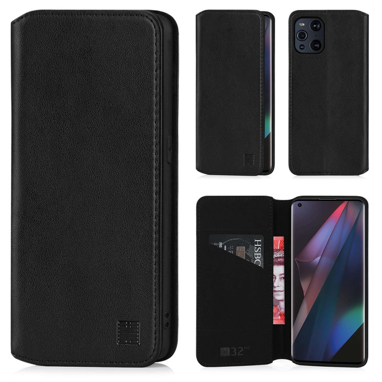 Oppo Find X3 Pro 'Classic Series 2.0' Real Leather Book Wallet Case