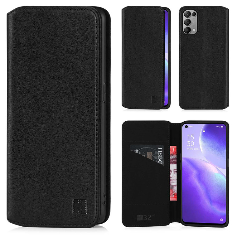 Oppo Find X3 Lite & Reno 5 5G 'Classic Series 2.0' Real Leather Book Wallet Case