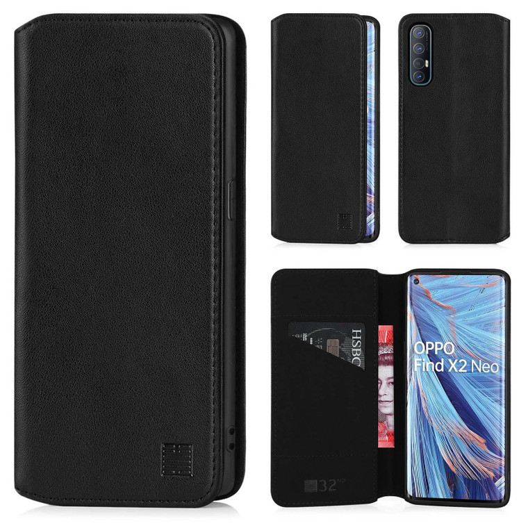 Oppo Find X2 Neo 'Classic Series 2.0' Real Leather Book Wallet Case