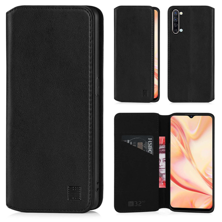 Oppo Find X2 Lite 'Classic Series 2.0' Real Leather Book Wallet Case