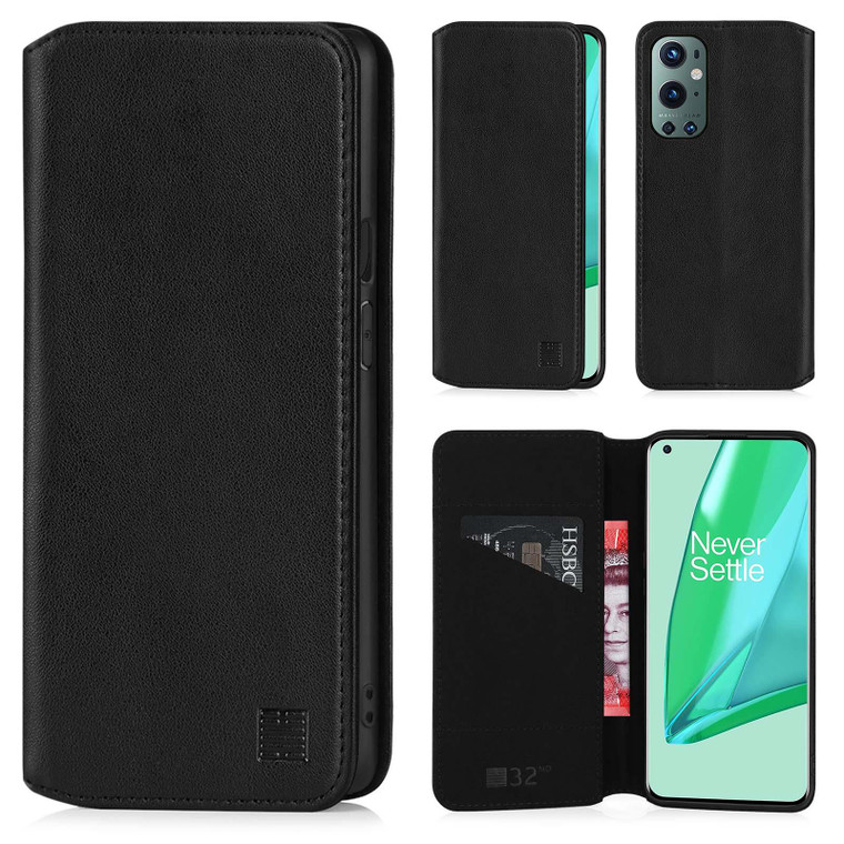OnePlus 9 Pro 'Classic Series 2.0' Real Leather Book Wallet Case
