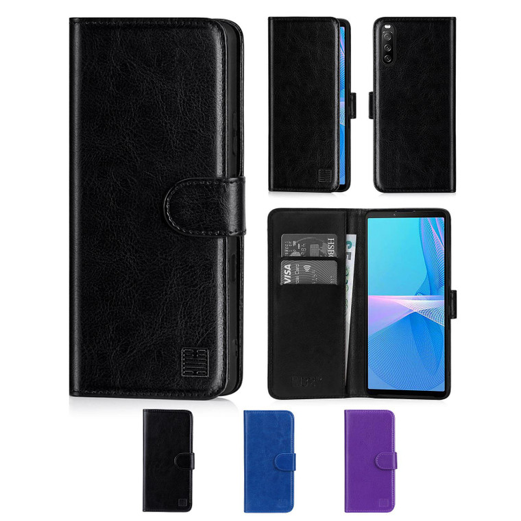 Sony Xperia 10 III (2021) 'Book Series' PU Leather Wallet Case Cover