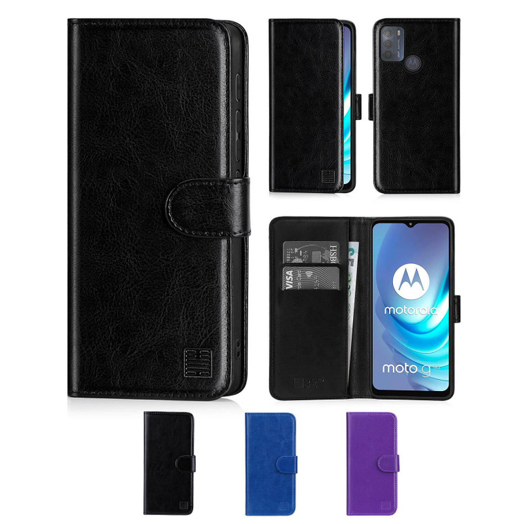 Motorola Moto G50 'Book Series' PU Leather Wallet Case Cover