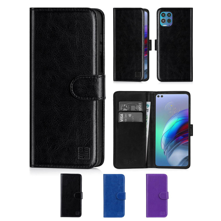 Motorola Moto G100 'Book Series' PU Leather Wallet Case Cover