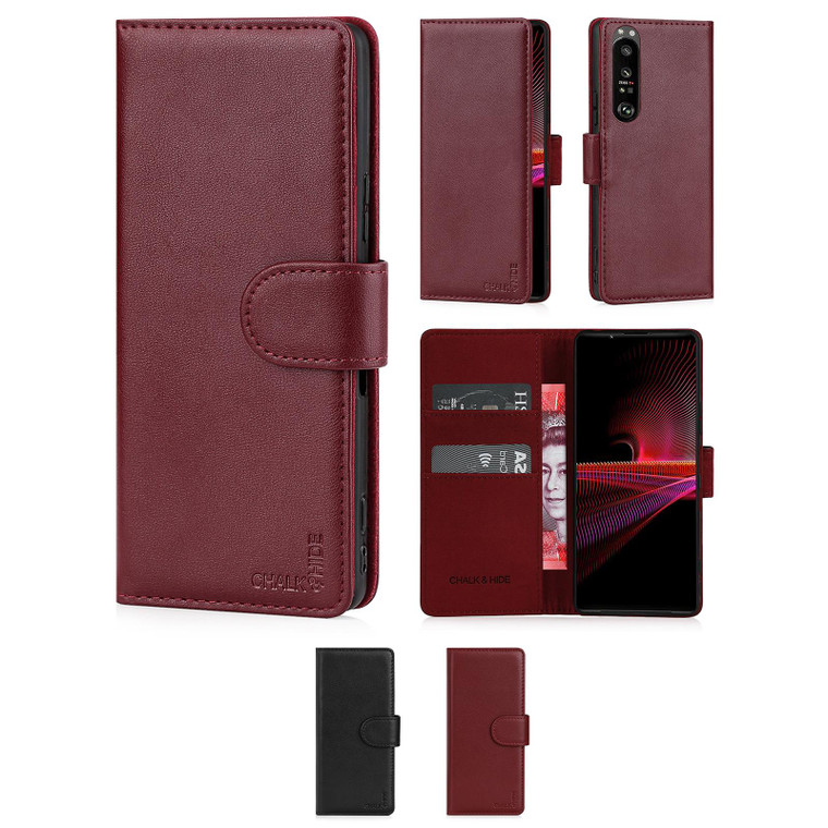 Chalk & Hide Real Leather Book Wallet Case for Sony Xperia 1 III (2021)