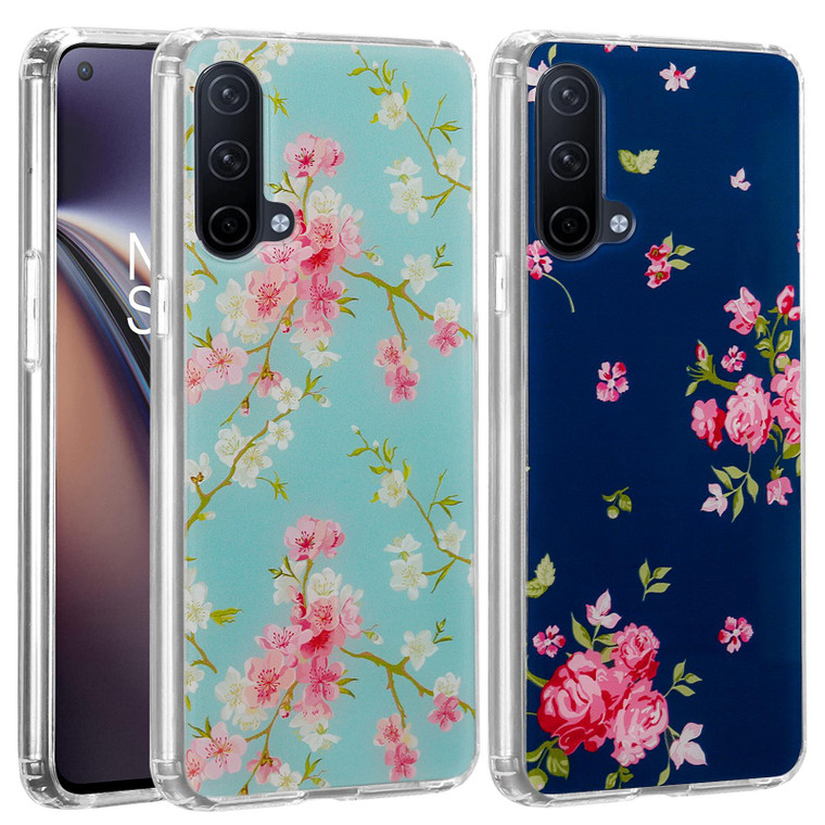 OnePlus Nord CE 5G 'Floral Gel Series' TPU Case Cover - Clear