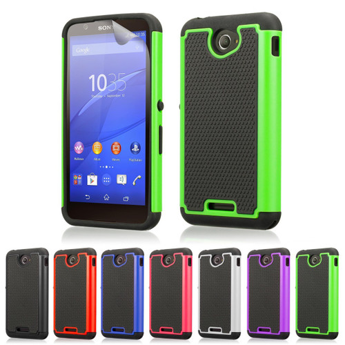 best service f407b 557c7 Sony Xperia E4 Dual-Layer Shockproof Case