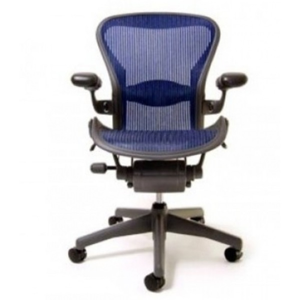 Herman Miller Aeron Chair Fully Featured Size B Cobalt Blue