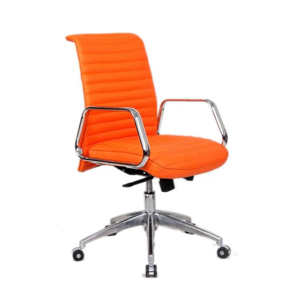 Ox Office Chair Mid Back, Orange by Fine Mod