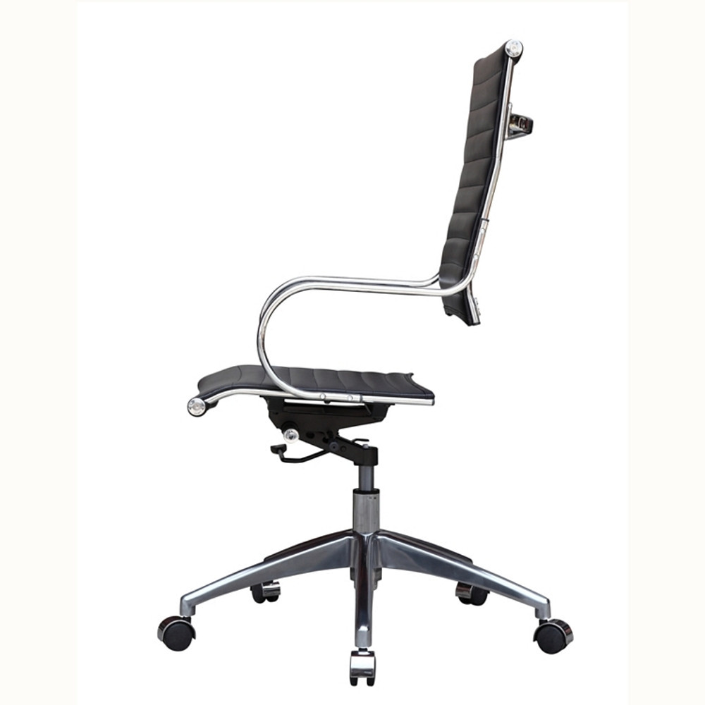 Flees Office Chair High Back, Black by Fine Mod