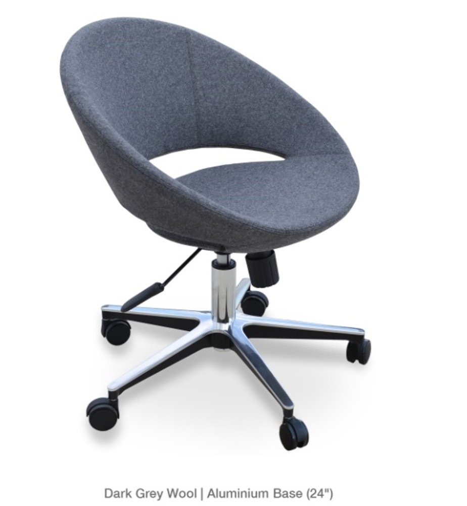 Soho Concept Crescent Office Chair in Ankara Wool