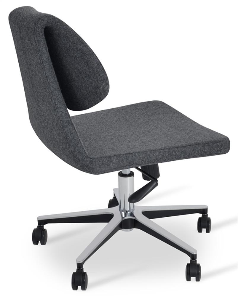 Soho Concept Gakko Office Chair in Camira Wool