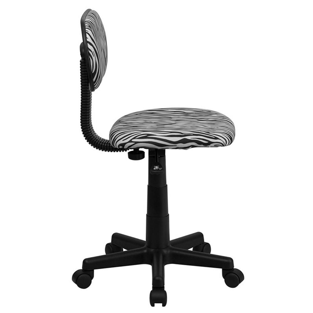 Flash Furniture Black and White Zebra Print Swivel Task Chair