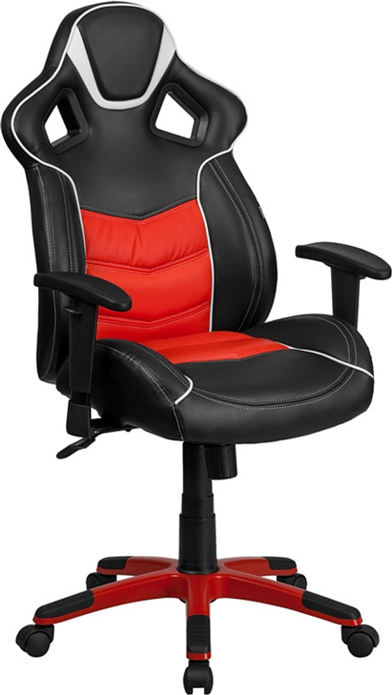 Flash Furniture High Back Rosso Corsa Red Executive Gaming-Racing Swivel Chair with Comfort Coil Seat Springs and Red Base