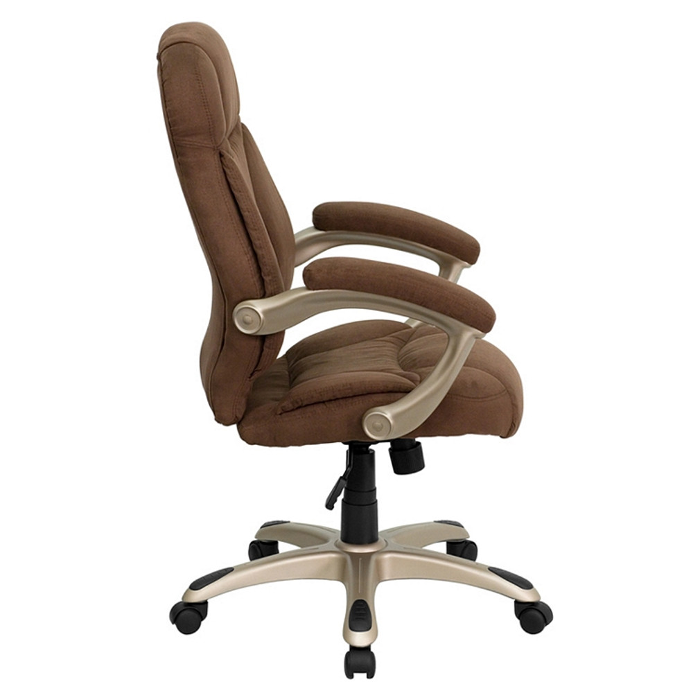 Marvelous Flash Furniture High Back Brown Microfiber Contemporary Executive Swivel Chair With Arms Alphanode Cool Chair Designs And Ideas Alphanodeonline