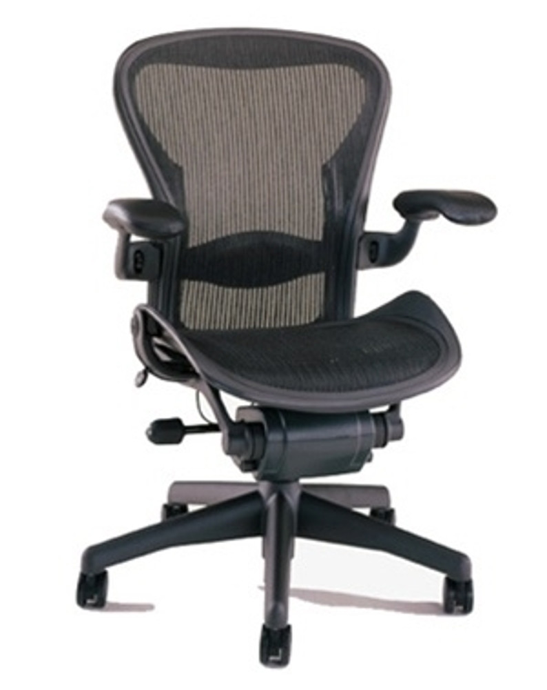 Refurbished Herman Miller Aeron Chair Fully Featured Size B (or C) Black