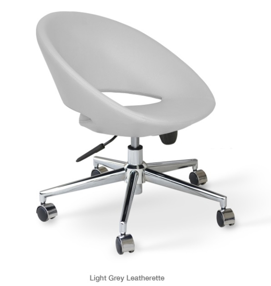 Soho Concept Crescent Office Chair in Leatherette