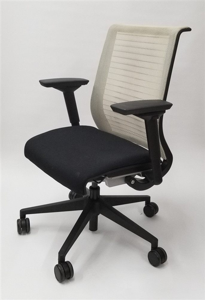& Steelcase Think Chair Mesh Back Fully Adjustable Model White