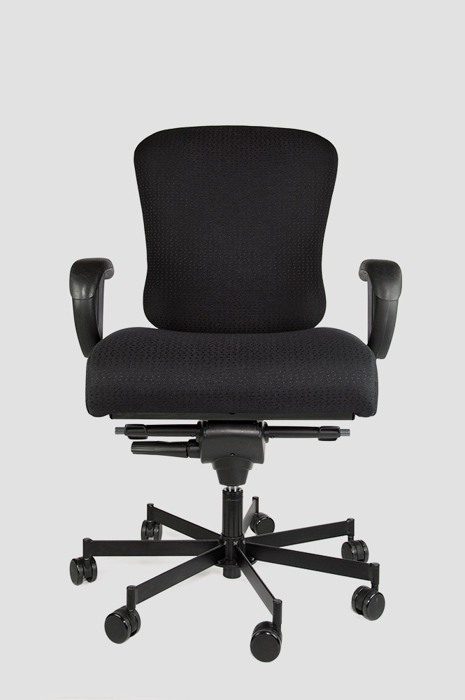 Concept Seating 3150 Task 24/7 Chair 550 lbs Rating *Ships in 1 Week - Black Fabric, Vinyl or Leather