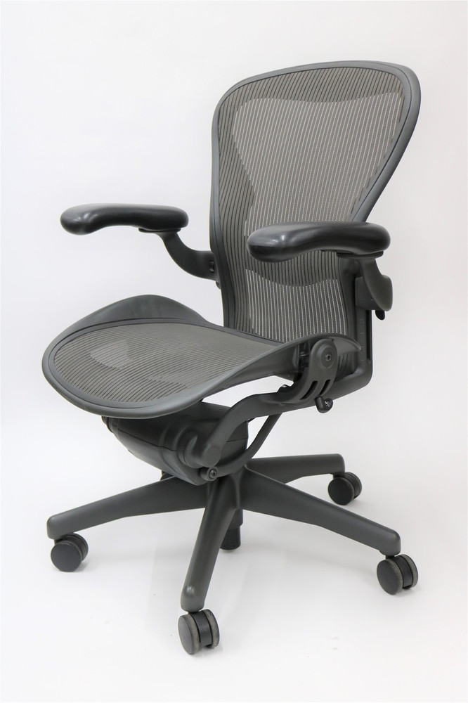 Herman Miller Aeron Chair Fully Featured Size C Gray