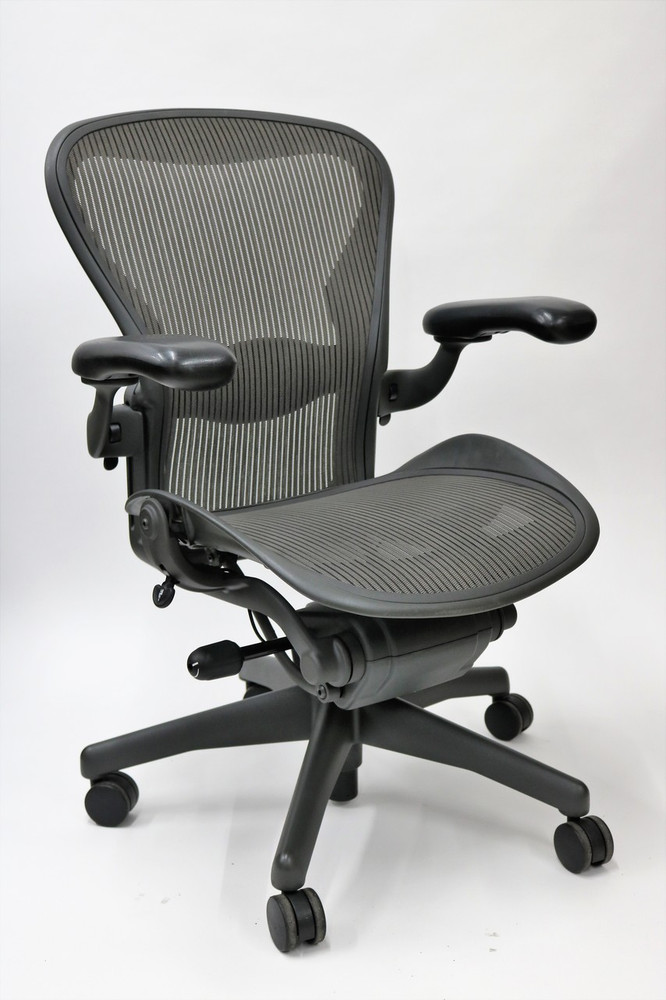 new style c0dee 1f50a Herman Miller Aeron Chair Fully Featured Size C Gray