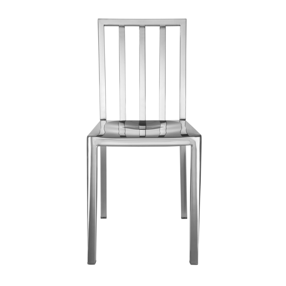 Eve Steel Dining Side Chair Polished Steel by Fine Mod