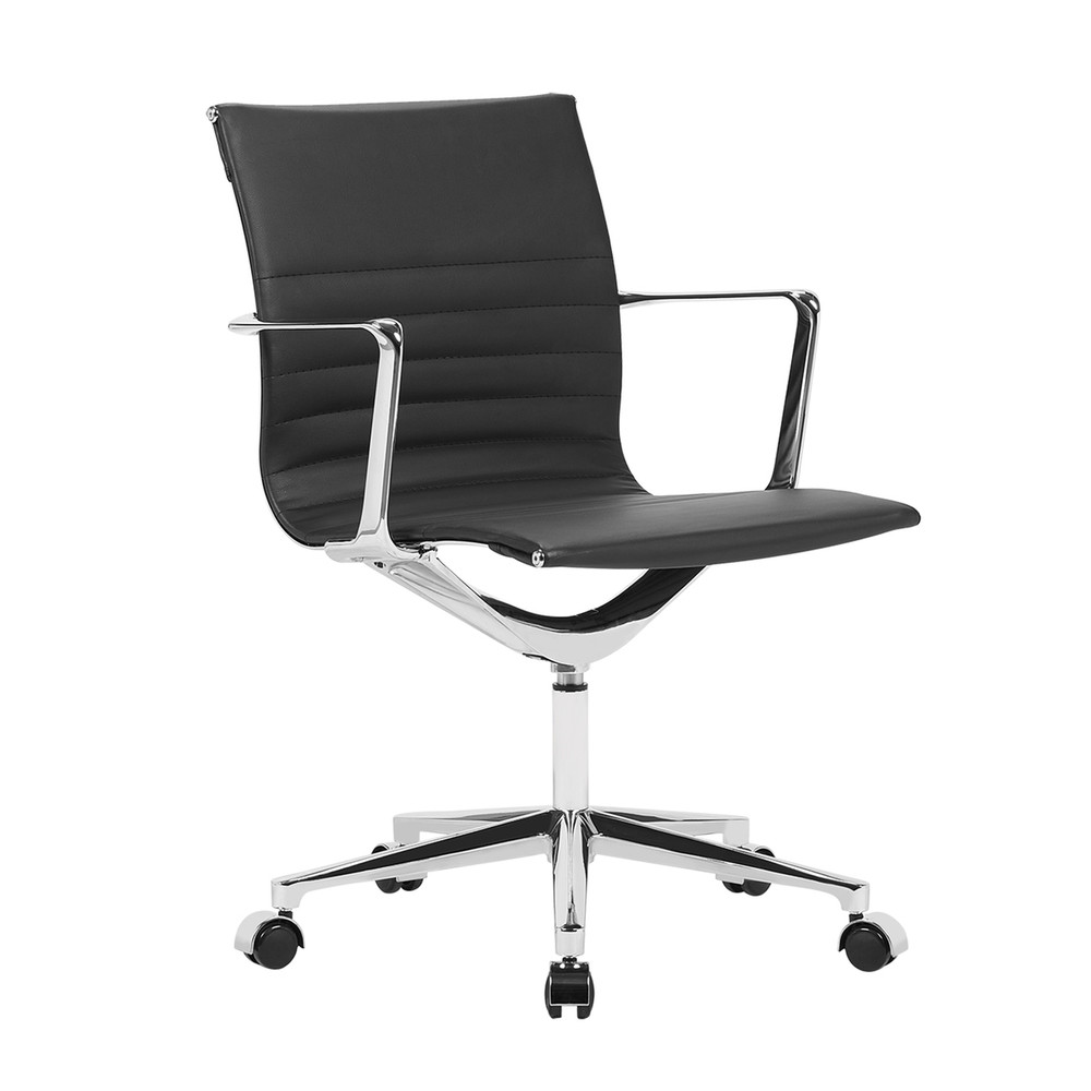 Em Office Chair Mid Back, Black by Fine Mod