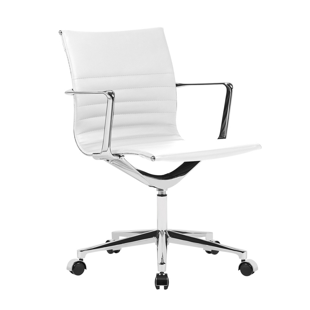 Em Office Chair Mid Back, White by Fine Mod