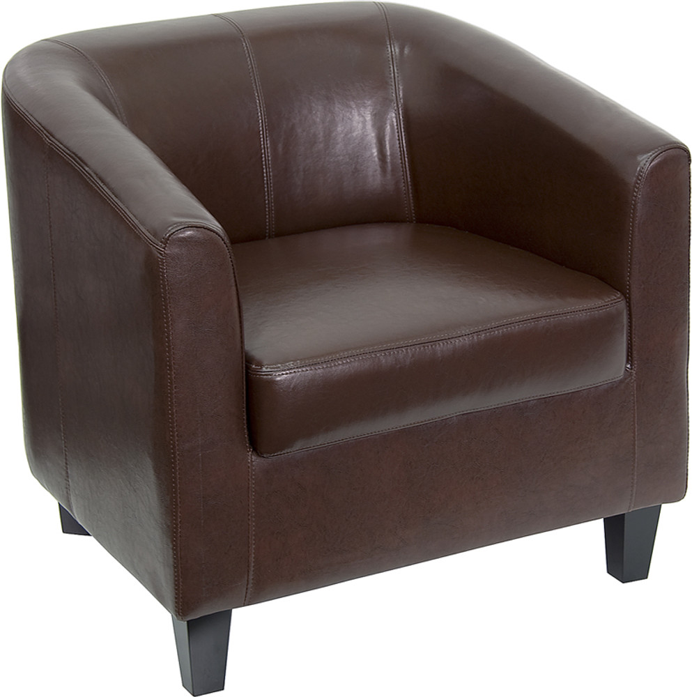 Brown Leather Lounge Chair by Lemoderno
