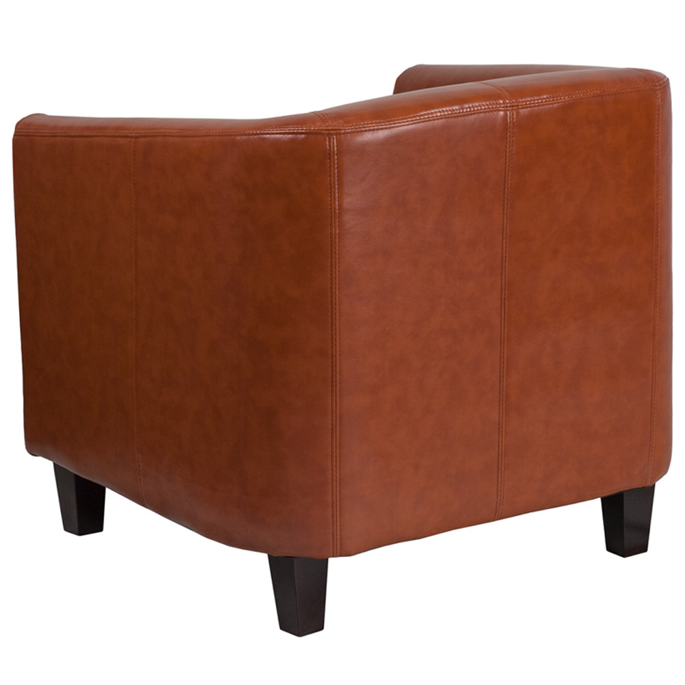 Cognac Leather Lounge Chair by Lemoderno