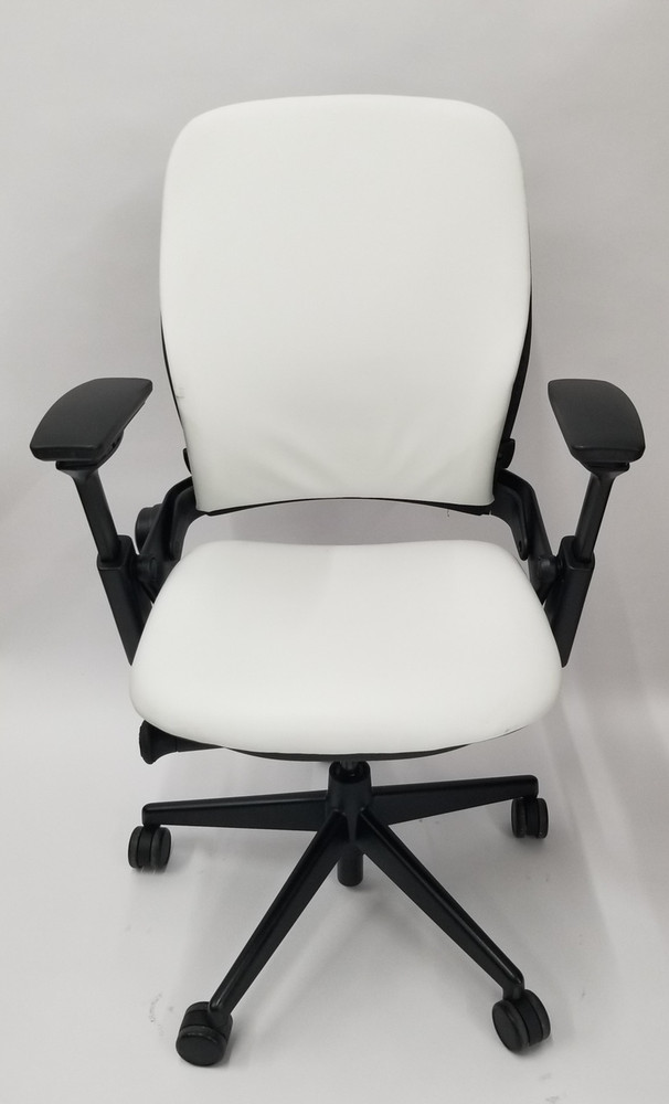 Steelcase Leap Chair V2 In Leather White