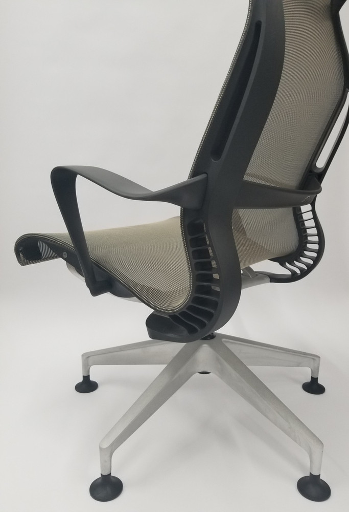 Refurbished Herman Miller Setu Lounge Chair with Stationary Casters