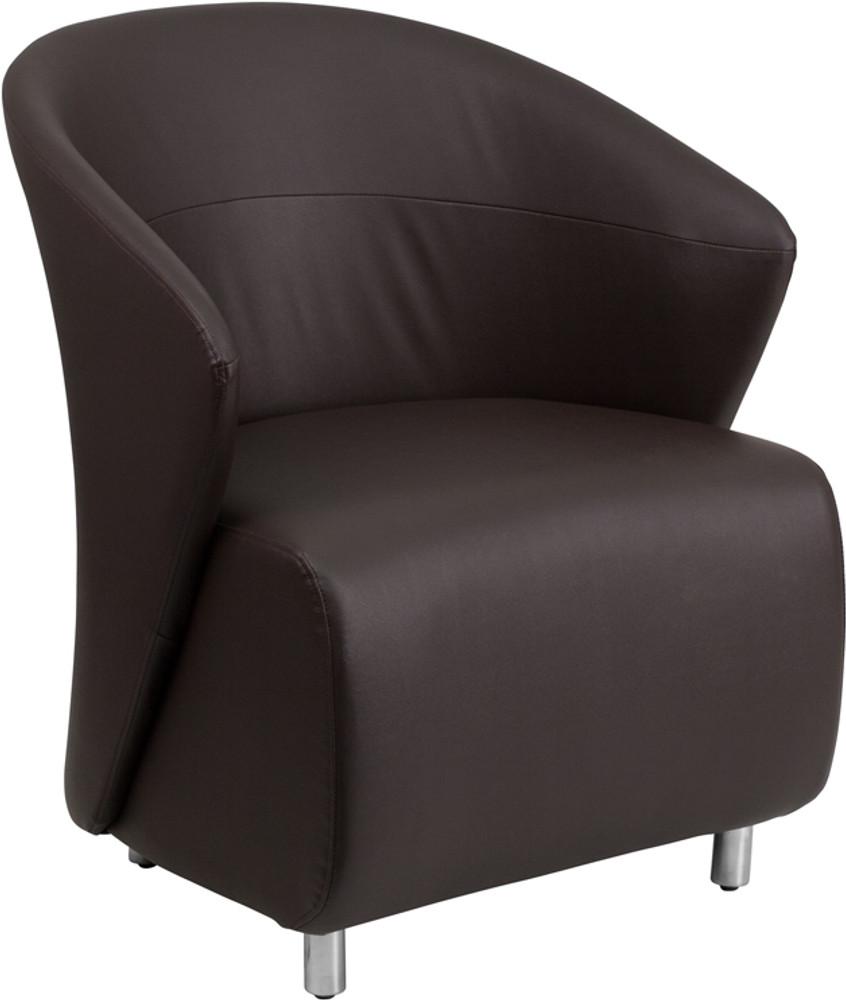 Dark Brown Leather Lounge Chair By Lemoderno