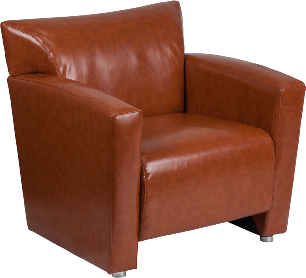 Stupendous Majesty Series Cognac Leather Chair By Lemoderno Creativecarmelina Interior Chair Design Creativecarmelinacom