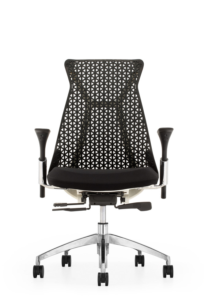 Santer Office Chair Flex Back Polished Base by Seating Mind