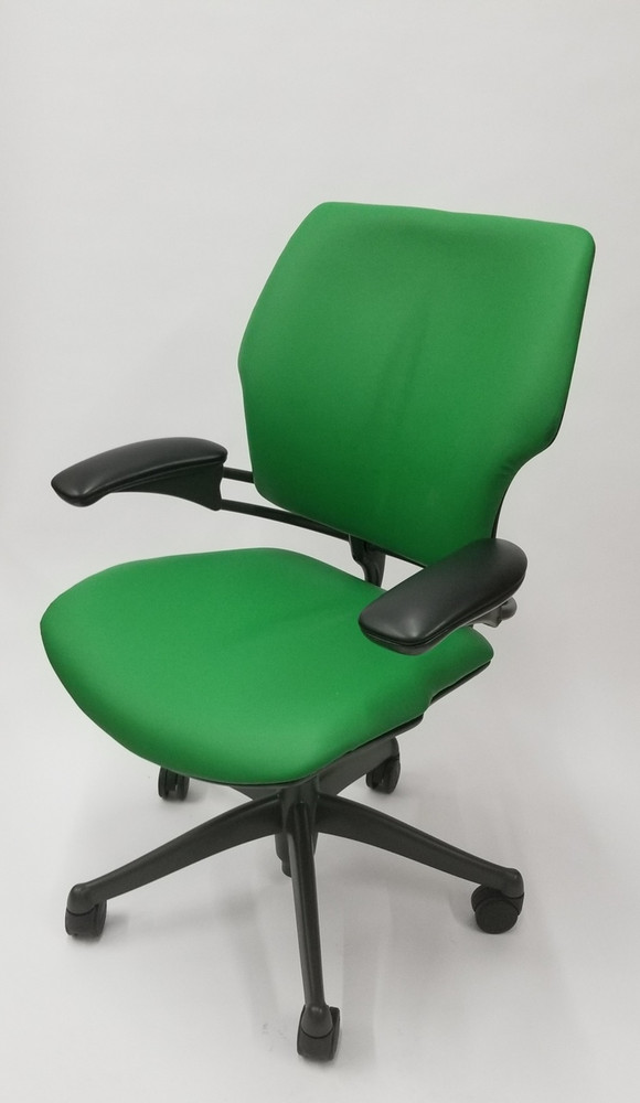 Humanscale Freedom Chair Fully Adjustable Model Green Leather