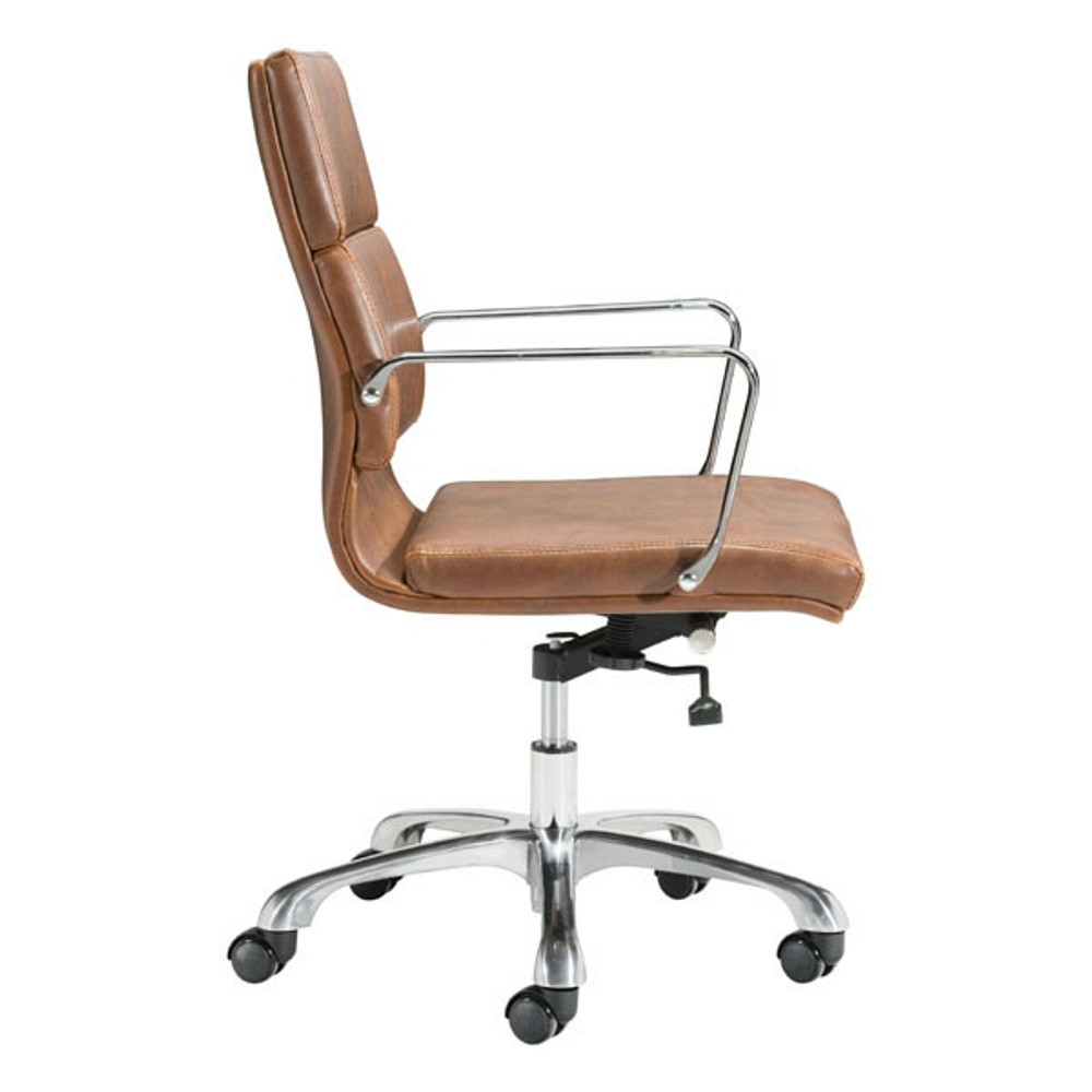 Office chair vintage Domore Soft Pad Mid Back Office Chair Vintage Brown By Fine Mod Seating Mind Fine Mod Soft Pad Mid Back Office Chair Vintage Brown