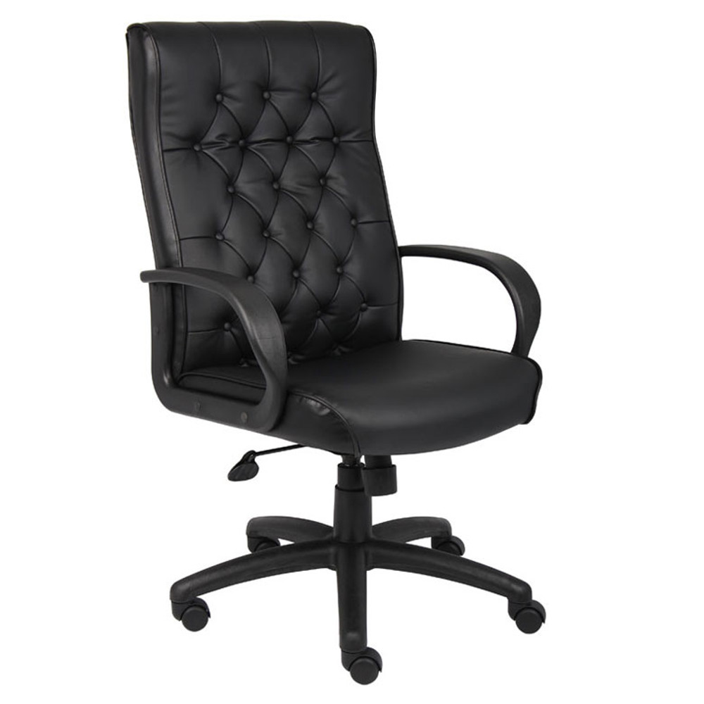 Boss Button Tufted Executive Chair In Black B8501-BK