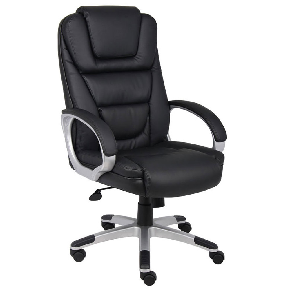 "Boss ""Ntr"" Executive LeatherPlus Chair W/ Knee Tilt B8602"