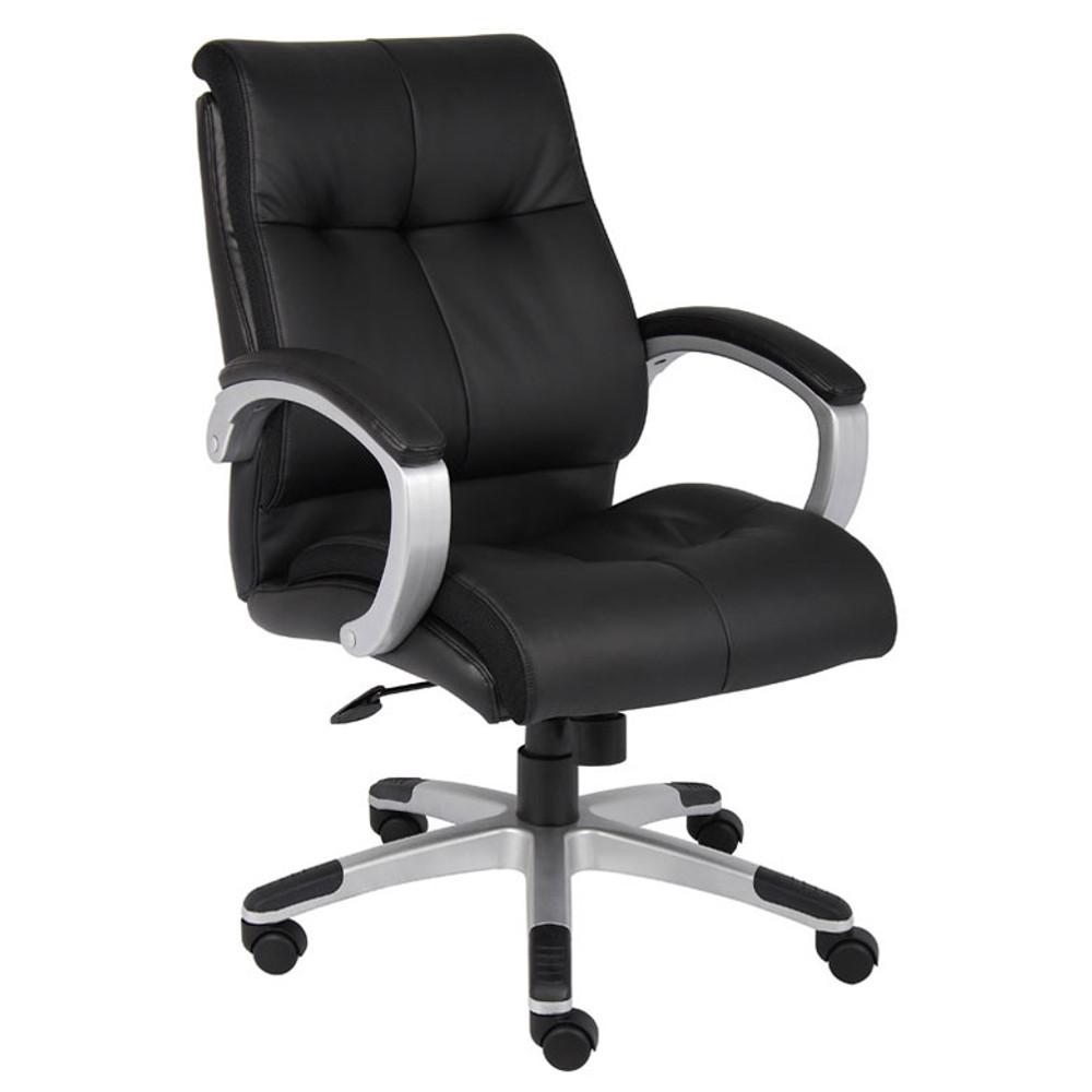 Boss Double Plush Mid Back Executive Chair B8776S-BK