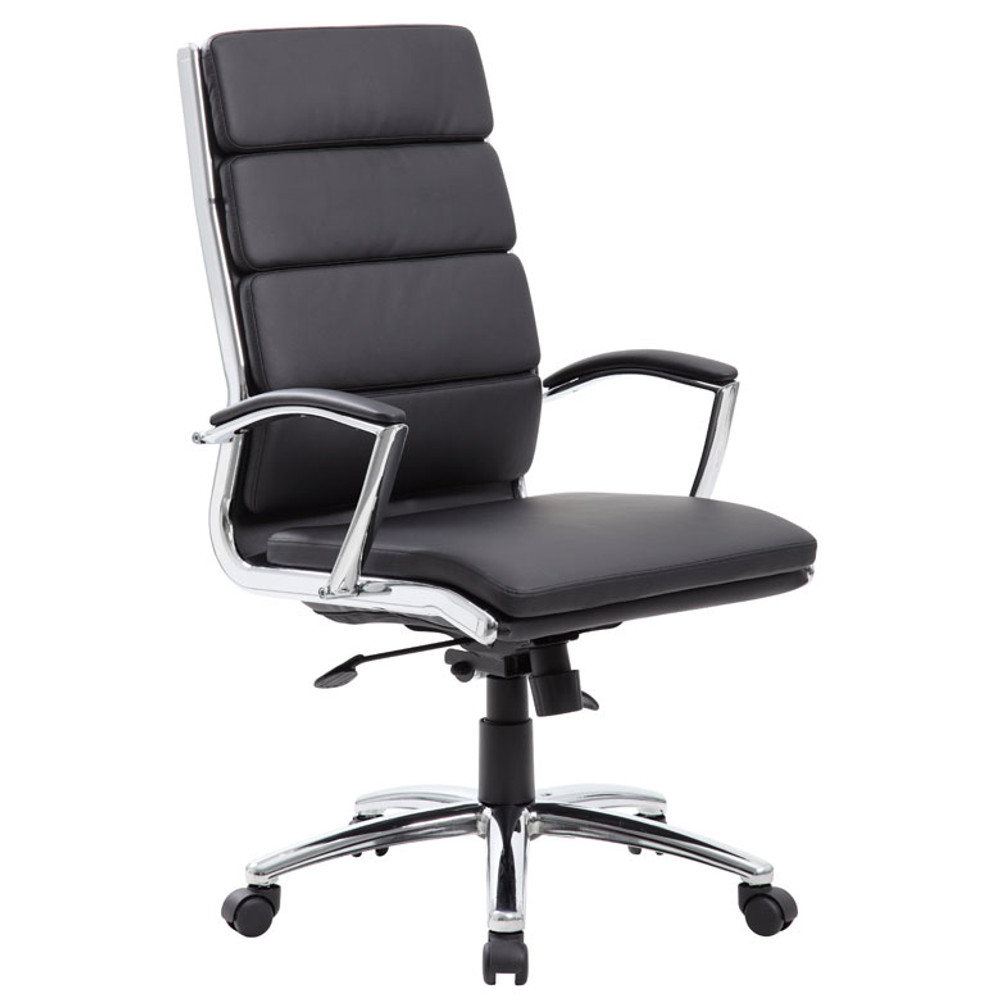 Boss Executive CaressoftPlus Chair with Metal Chrome Finish B9471-BK