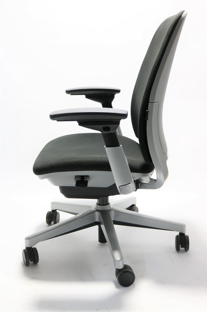 Steelcase Amia Chair Fully High Performance Arms + Titanium Frame