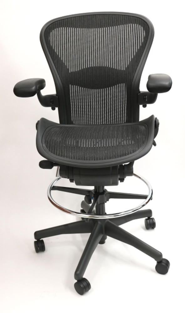 Herman Miller Aeron Drafting Stool Fully Featured Size C Chair