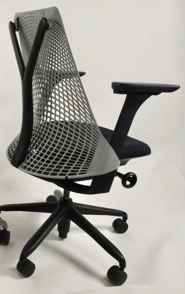 Herman Miller Sayl Chair Black and Gray Back