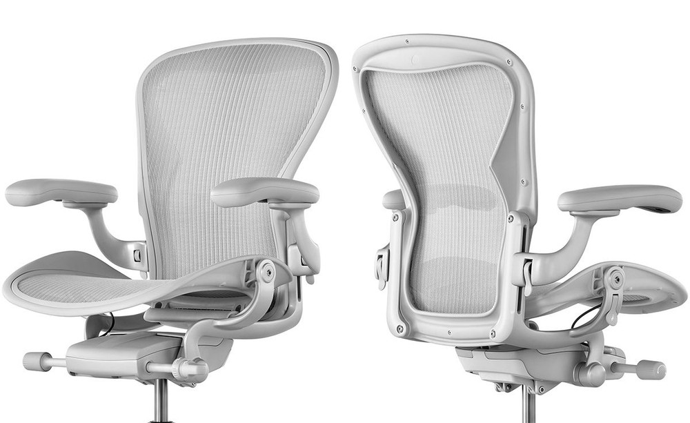 Herman Miller Aeron Chair V2 With Fully Adjustable Arms Mineral Color